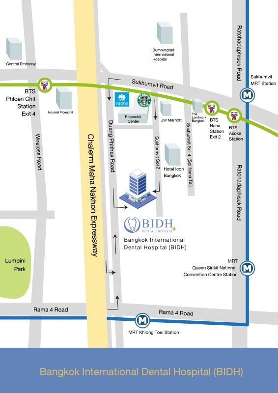 Map BIDH Dental Hospital